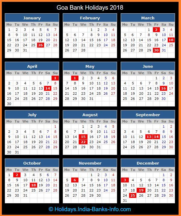 Calendar 2018 Government Of India